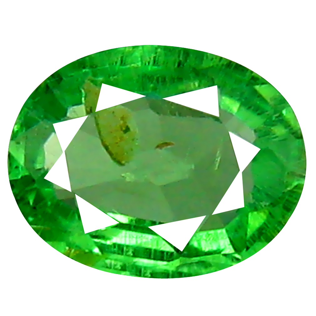 0.32 ct Terrific Oval Cut (5 x 4 mm) Tanzanian Green Tsavorite Garnet Loose Gemstone
