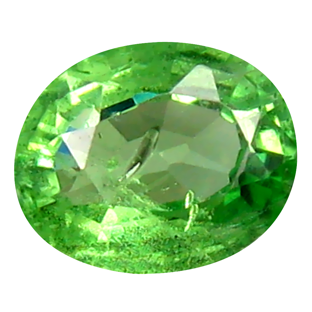 0.62 ct Best Oval Cut (6 x 5 mm) Tanzanian Green Tsavorite Garnet Loose Gemstone