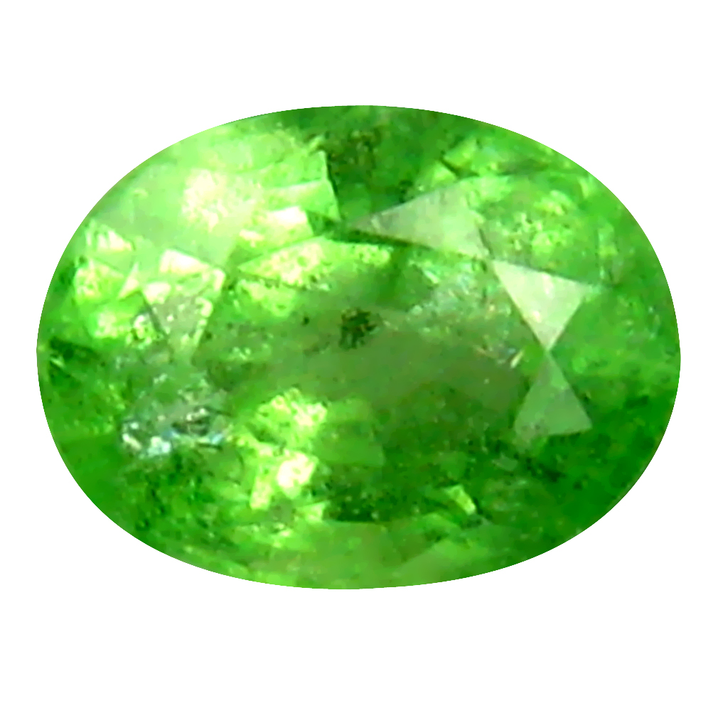 0.53 ct Significant Oval Cut (5 x 4 mm) Tanzanian Green Tsavorite Garnet Loose Gemstone
