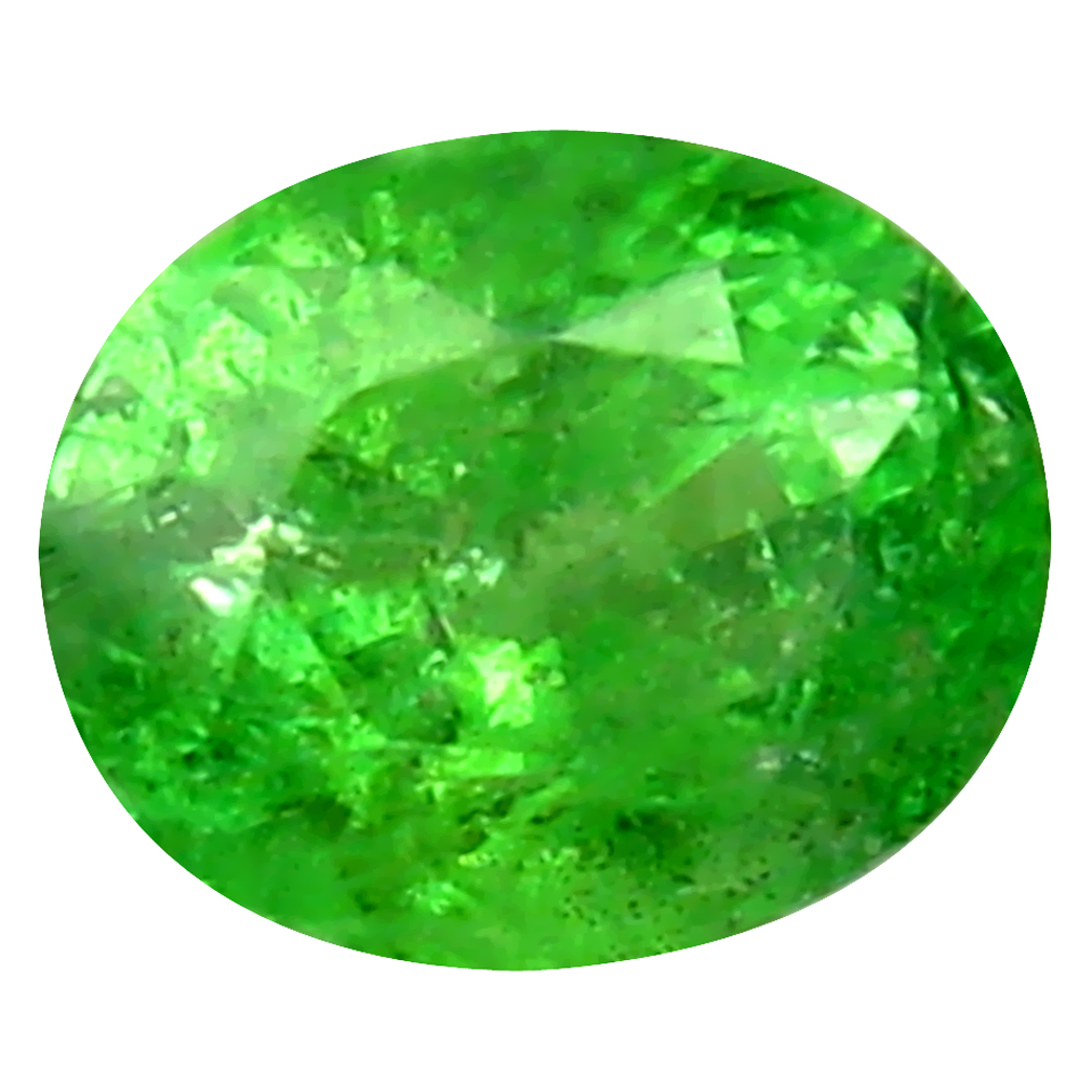 0.47 ct Superior Oval Cut (5 x 4 mm) Tanzanian Green Tsavorite Garnet Loose Gemstone