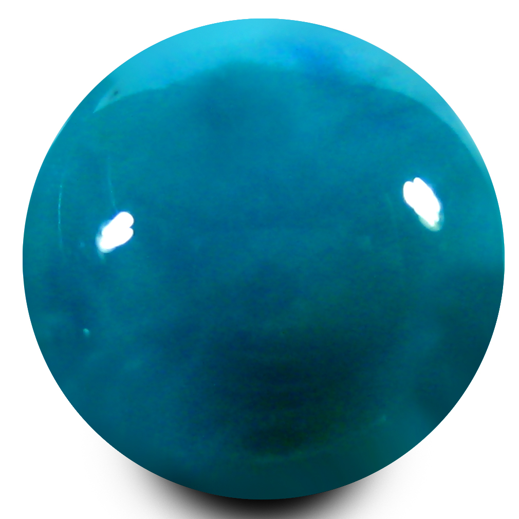 3.51 ct AAA Amazing Round Cabochon Shape (10 x 10 mm) Greenish Blue Turquoise Natural Gemstone
