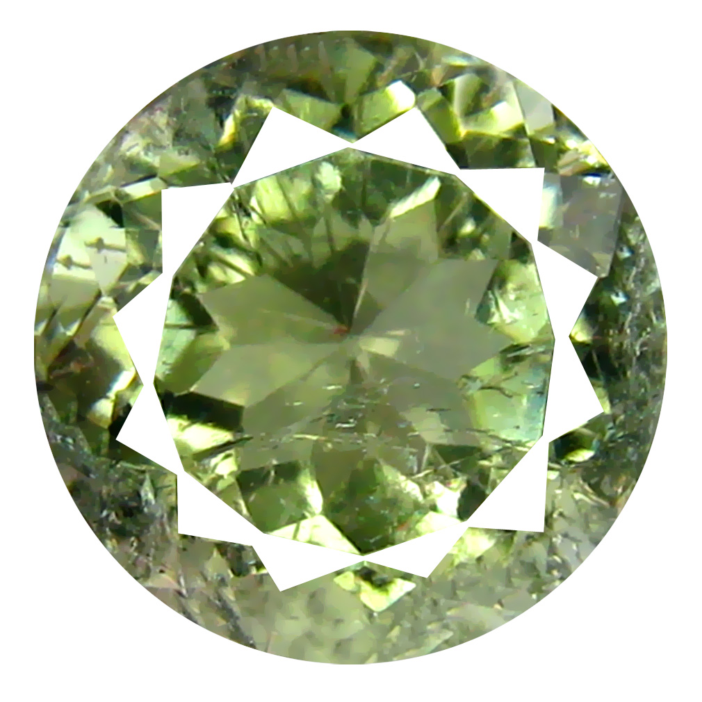 3.68 ct Fantastic Round Cut (10 x 10 mm) Mozambique Green Tourmaline Natural Gemstone