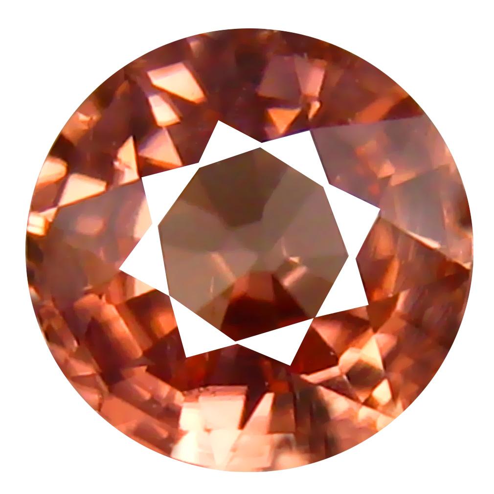 1.24 ct AAA+ Dazzling Round Shape (6 x 6 mm) Fancy Brown Zircon Natural Gemstone