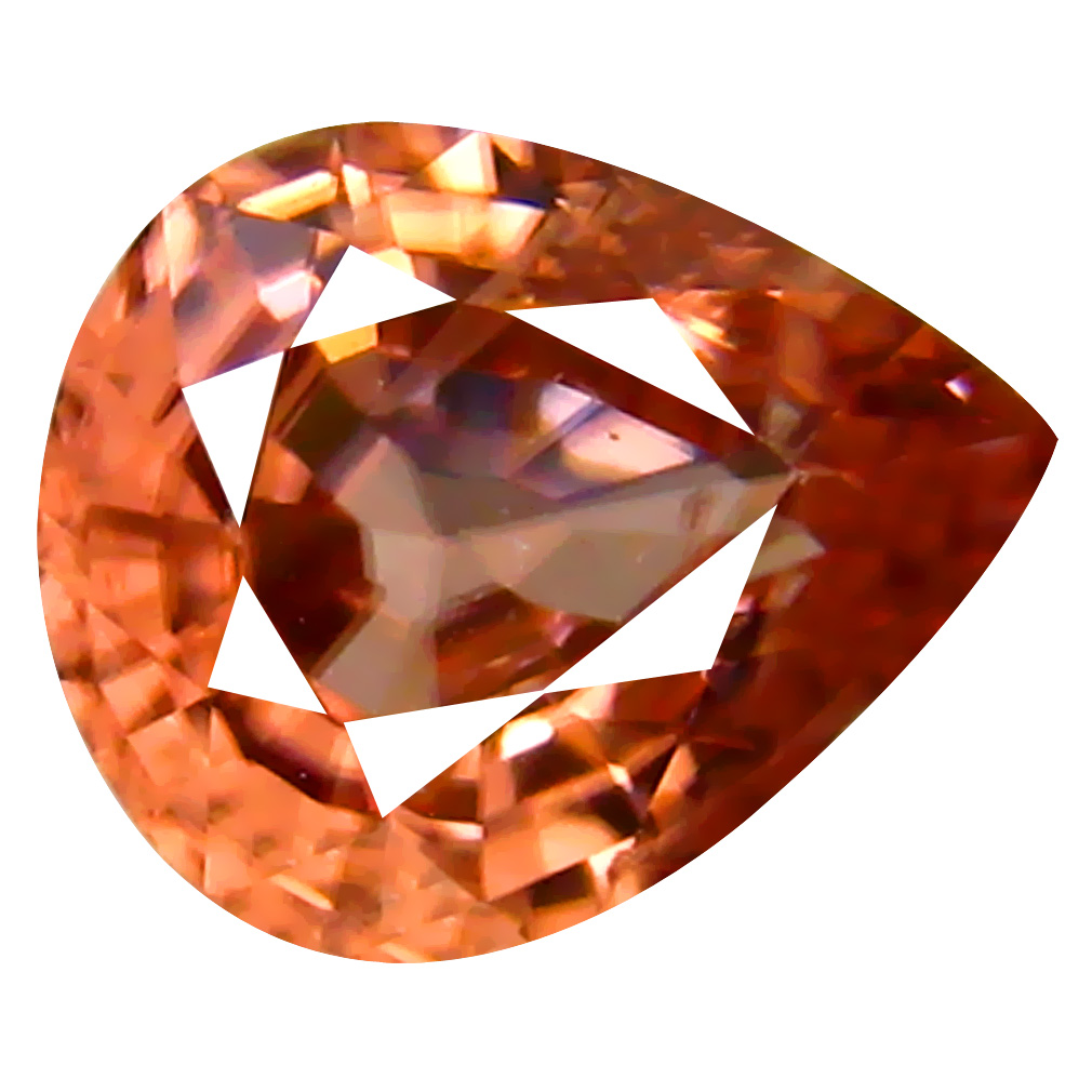 1.24 ct AAA+ Stunning Pear Shape (7 x 6 mm) Fancy Brown Zircon Natural Gemstone