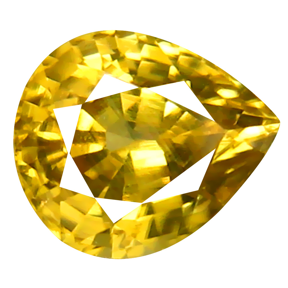 1.54 ct AAA+ Fantastic Pear Shape (7 x 6 mm) Golden Yellow Zircon Natural Gemstone