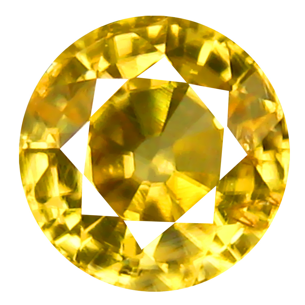 1.18 ct AAA+ Lovely Round Shape (6 x 6 mm) Golden Yellow Zircon Natural Gemstone