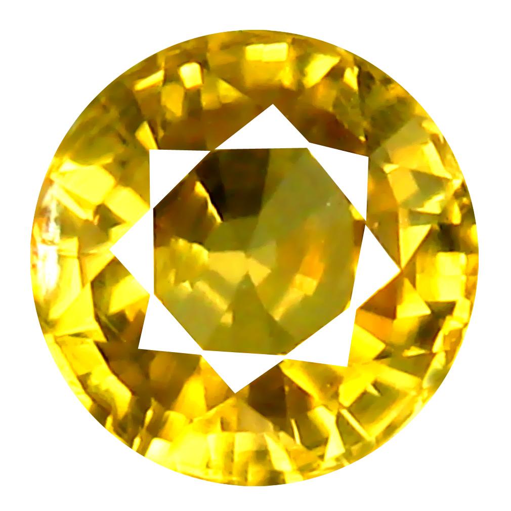1.39 ct AAA+ Exquisite Round Shape (6 x 6 mm) Golden Yellow Zircon Natural Gemstone