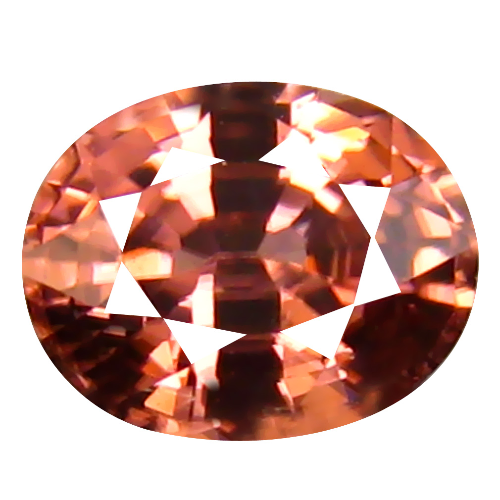 0.97 ct AAA+ Significant Oval Shape (6 x 5 mm) Fancy Brown Zircon Natural Gemstone