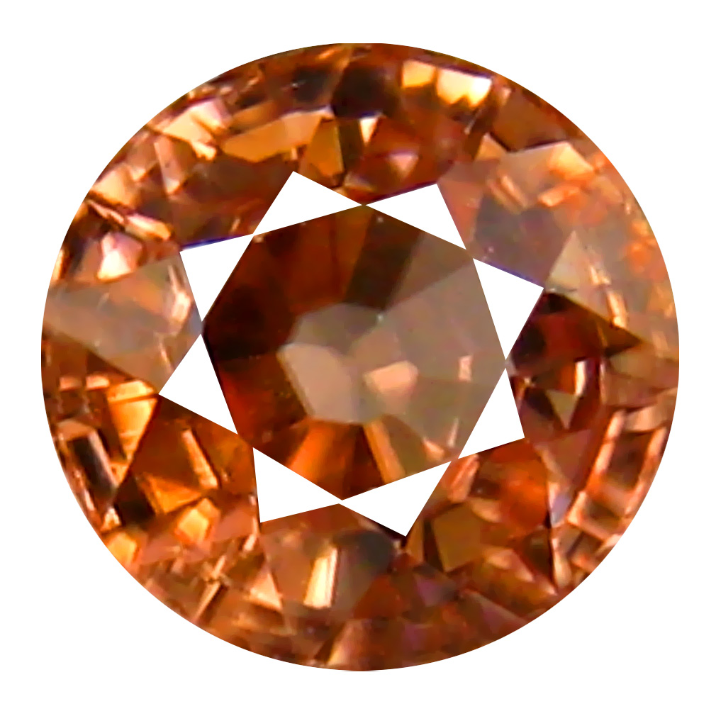 1.02 ct AAA+ Fabulous Round Shape (5 x 5 mm) Fancy Brown Zircon Natural Gemstone