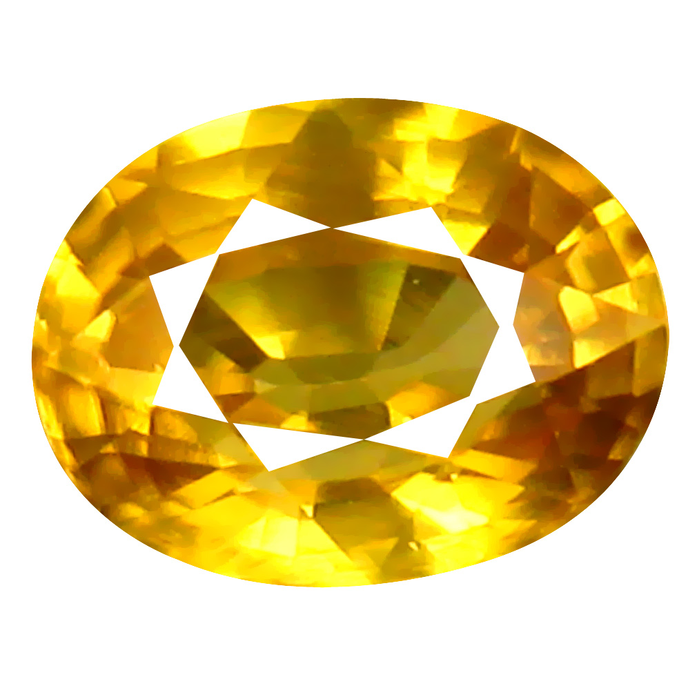 1.38 ct AAA+ Charming Oval Shape (7 x 5 mm) Golden Yellow Zircon Natural Gemstone