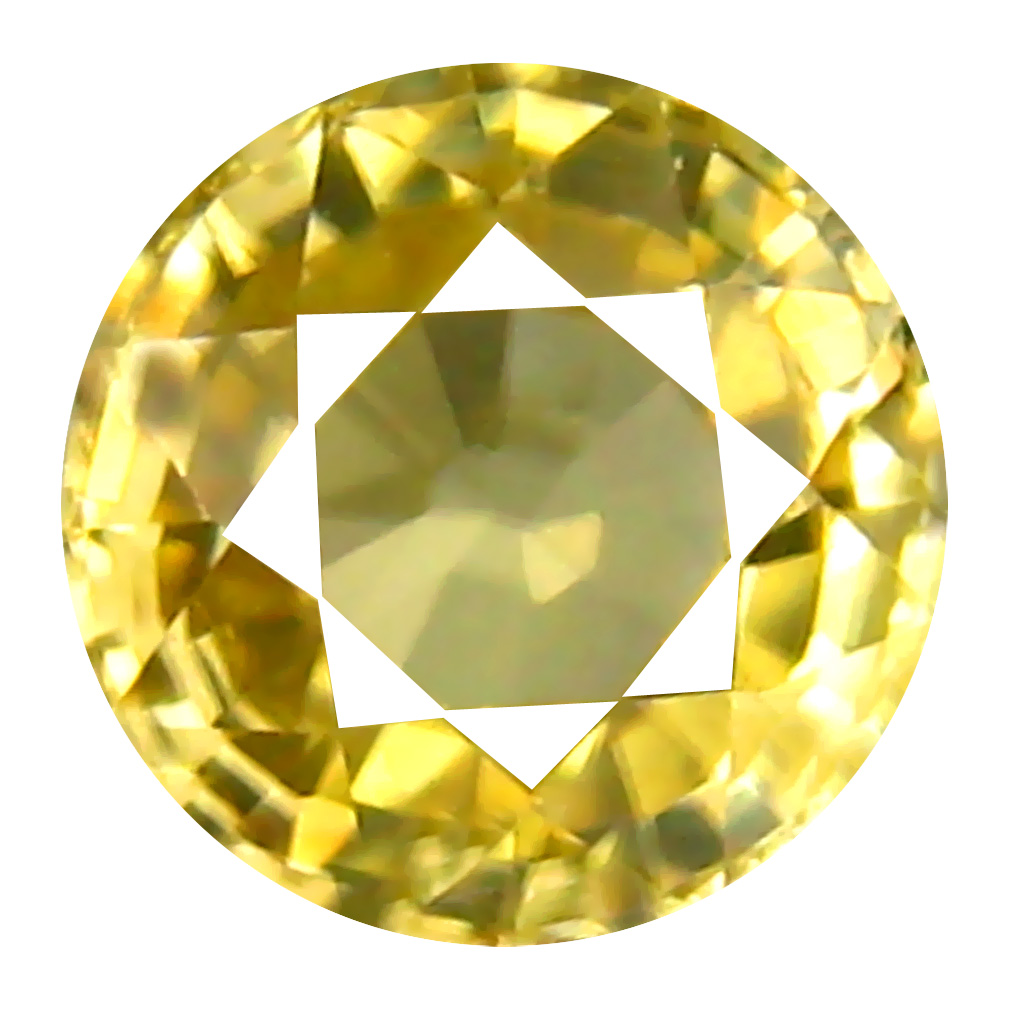 0.97 ct AAA+ Significant Round Shape (5 x 5 mm) Golden Yellow Zircon Natural Gemstone