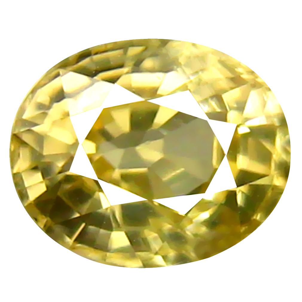 1.12 ct AAA+ Eye-catching Oval Shape (6 x 5 mm) Yellow Zircon Natural Gemstone