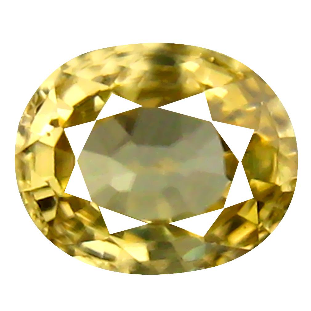 0.75 ct AAA+ Fantastic Oval Shape (6 x 5 mm) Yellow Zircon Natural Gemstone