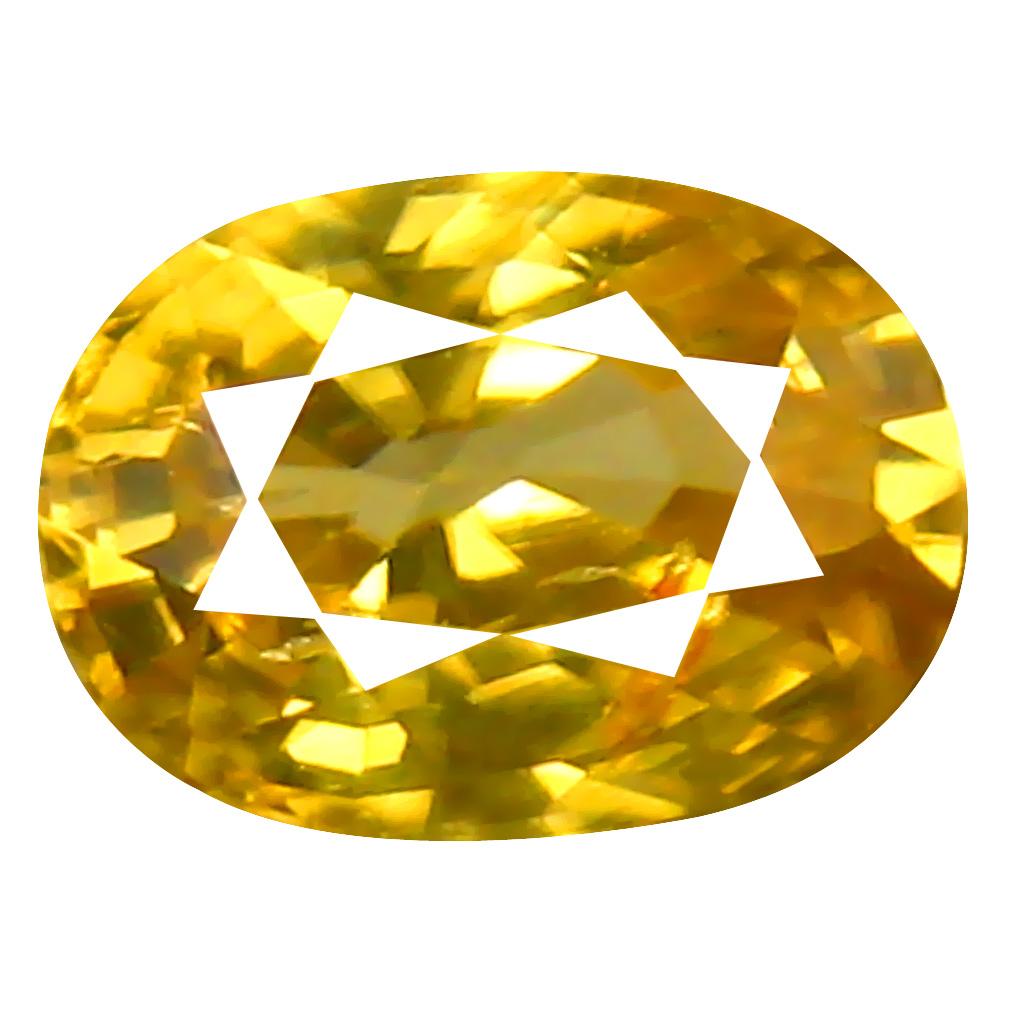 1.06 ct AAA+ Premium Oval Shape (7 x 5 mm) Yellow Zircon Natural Gemstone
