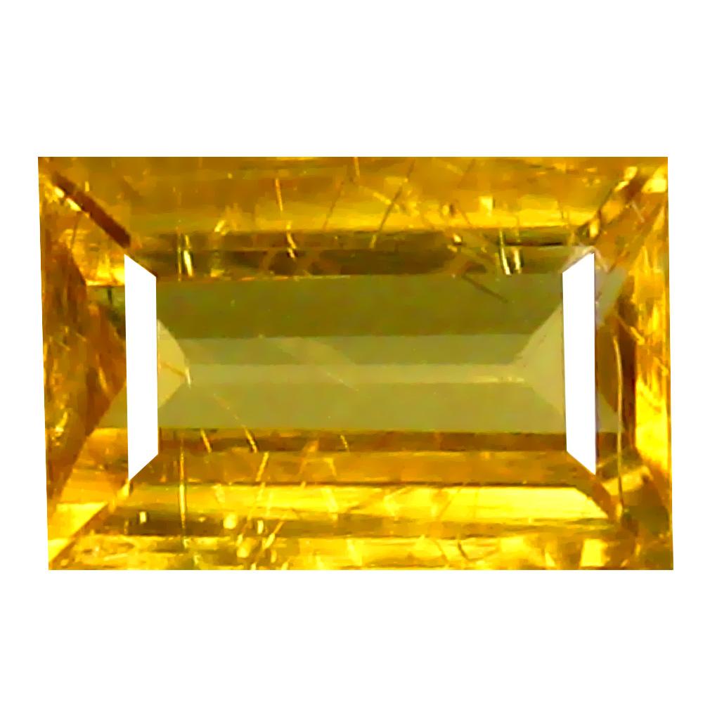 0.96 ct AAA+ Dazzling Emerald Shape (7 x 4 mm) Yellow Zircon Natural Gemstone