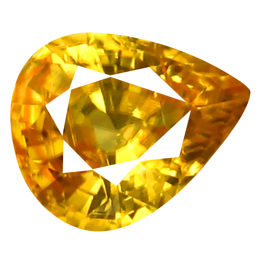 0.99 ct AAA+ Resplendent Pear Shape (7 x 5 mm) Orange Yellow Zircon Natural Gemstone