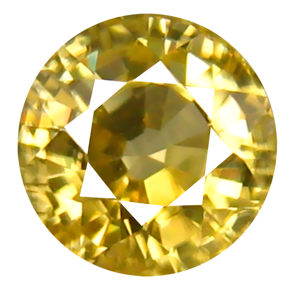 1.13 ct AAA+ Superb Round Shape (5 x 5 mm) Yellow Zircon Natural Gemstone