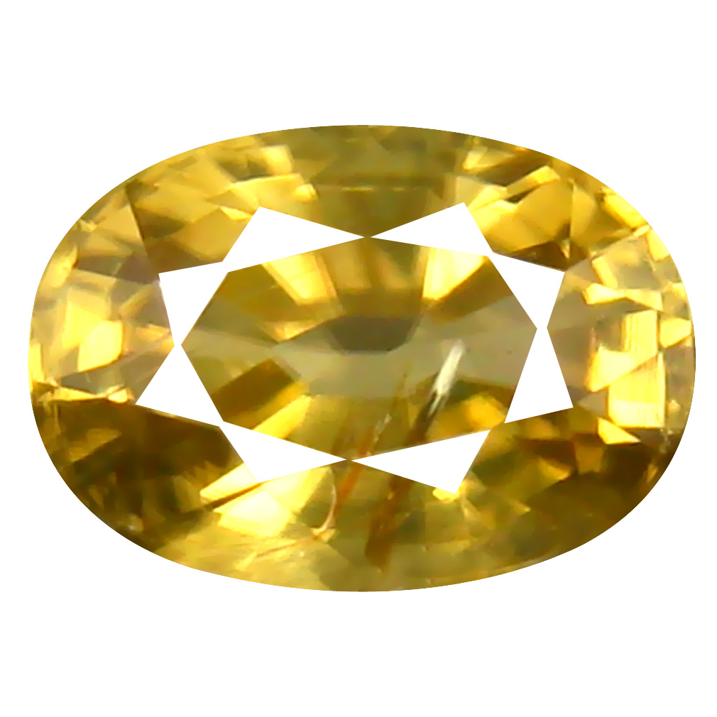 1.54 ct AAA+ Best Oval Shape (7 x 5 mm) Yellow Zircon Natural Gemstone