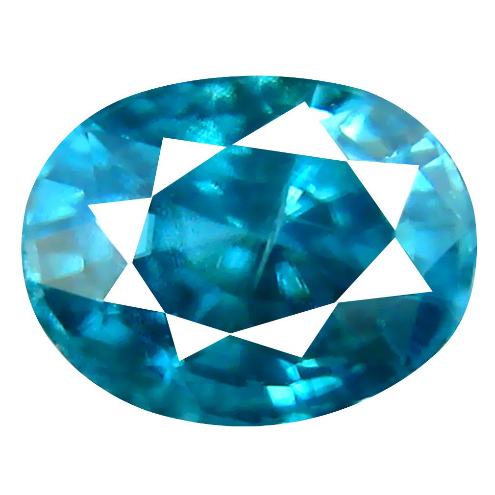 2.27 ct Pretty Oval Cut (8 x 6 mm) Cambodian Blue Zircon Natural Loose Gemstone