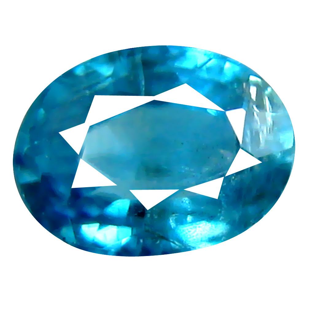 1.53 ct Impressive Oval Cut (7 x 5 mm) Cambodian Blue Zircon Natural Loose Gemstone
