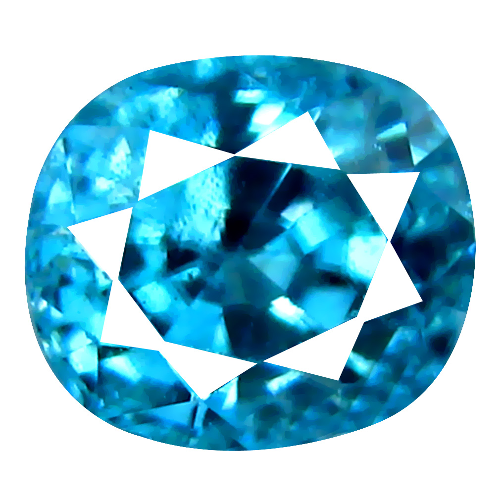1.90 ct Impressive Oval Cut (6 x 6 mm) Cambodian Blue Zircon Natural Loose Gemstone