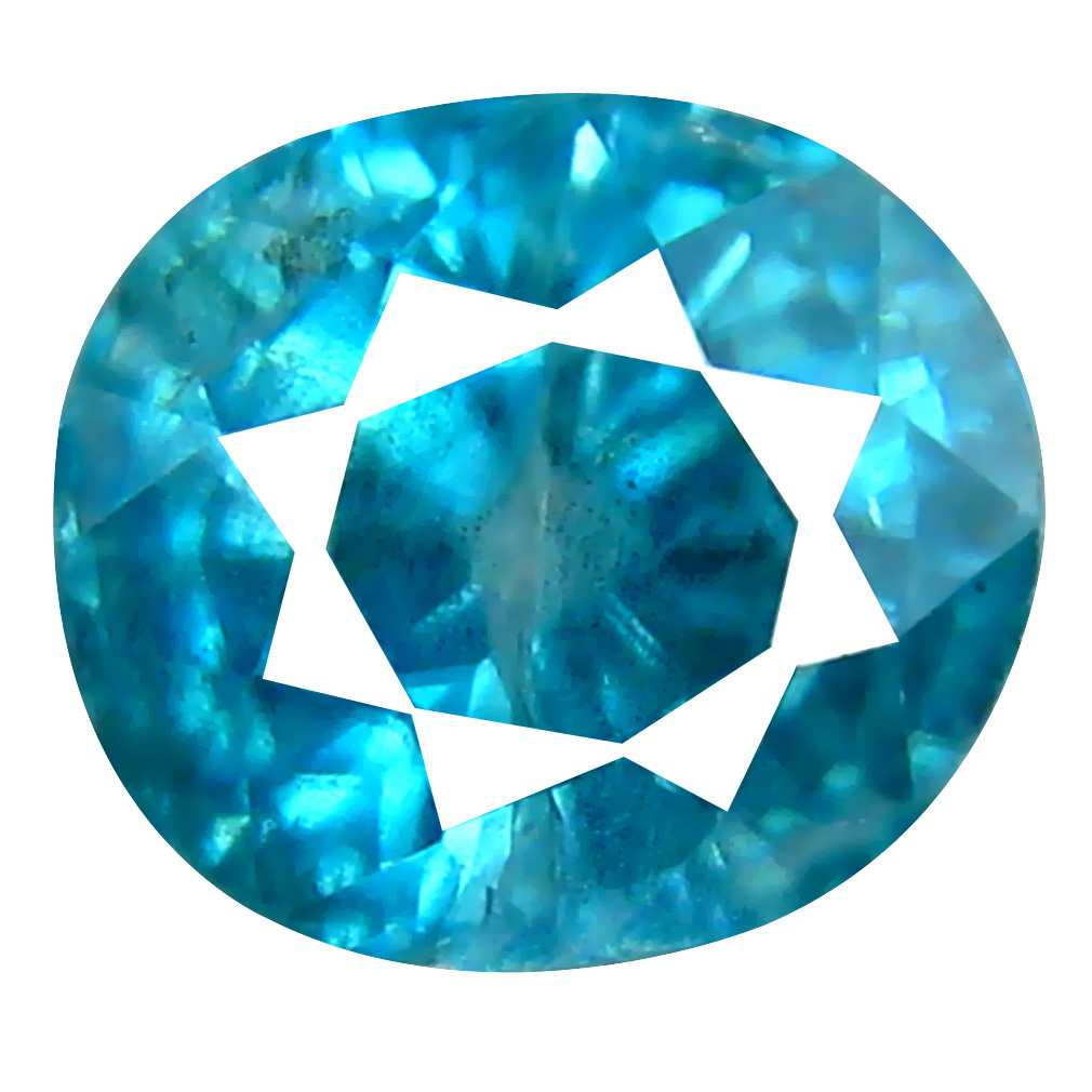2.58 ct Fabulous Oval Cut (7 x 7 mm) Cambodian Blue Zircon Natural Loose Gemstone