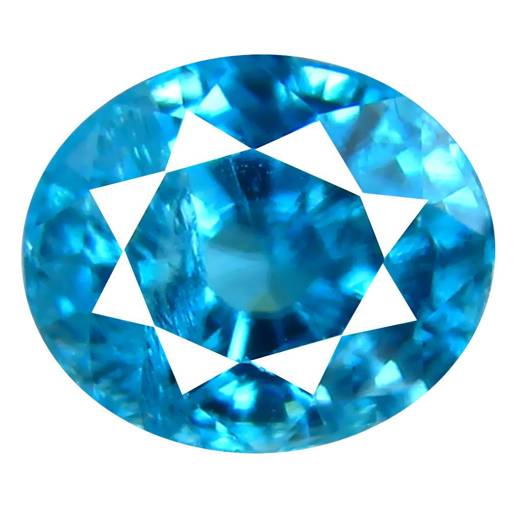 2.10 ct Tremendous Oval Cut (7 x 6 mm) Cambodian Blue Zircon Natural Loose Gemstone