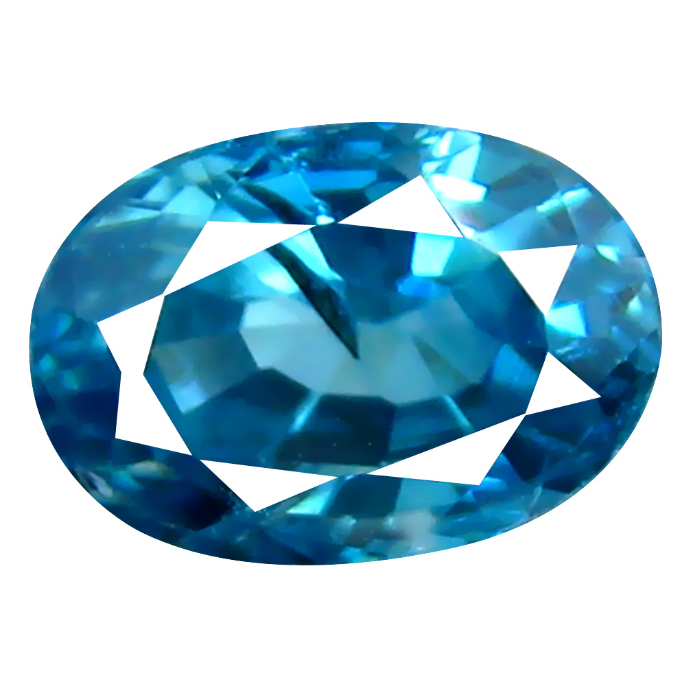 1.21 ct Splendid Oval Cut (6 x 5 mm) Cambodian Blue Zircon Natural Loose Gemstone