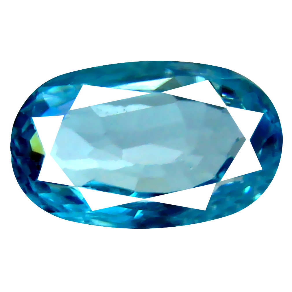 1.84 ct Great looking Oval Cut (9 x 5 mm) Cambodian Blue Zircon Natural Loose Gemstone