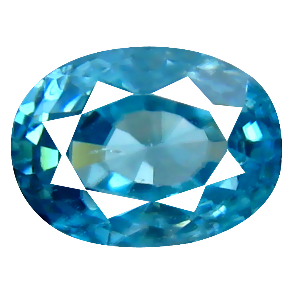 1.95 ct Five-star Oval Cut (7 x 5 mm) Cambodian Blue Zircon Natural Loose Gemstone