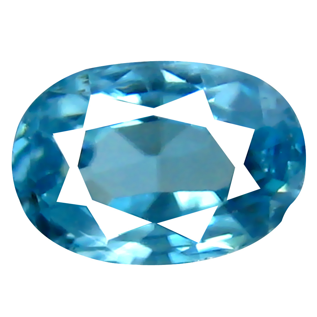 0.90 ct Significant Oval Cut (6 x 4 mm) Cambodian Blue Zircon Natural Loose Gemstone