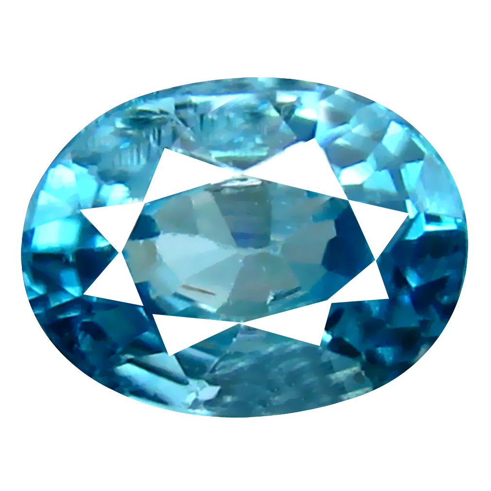 1.28 ct Great looking Oval Cut (7 x 5 mm) Cambodian Blue Zircon Natural Loose Gemstone