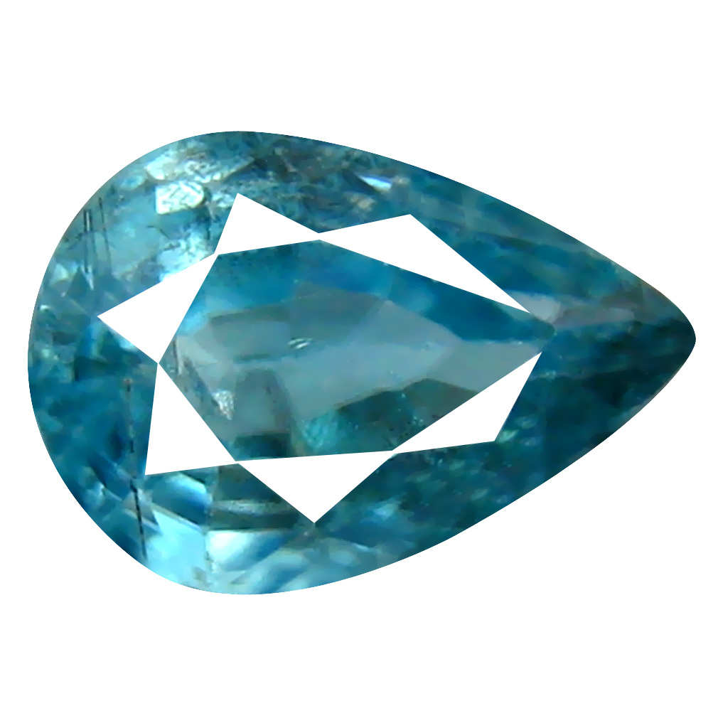 1.72 ct Superior Pear Cut (8 x 6 mm) Cambodian Blue Zircon Natural Loose Gemstone