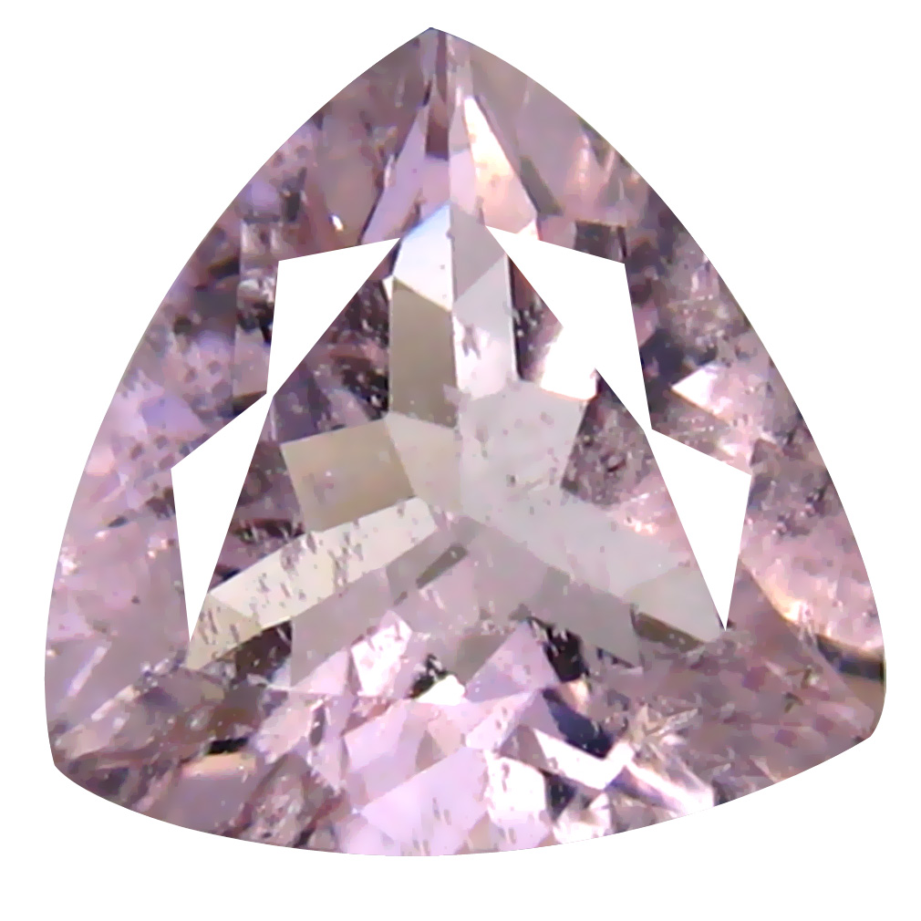1.37 ct AAA Very good Trillion Shape (8 x 8 mm) Pink Morganite Natural Gemstone
