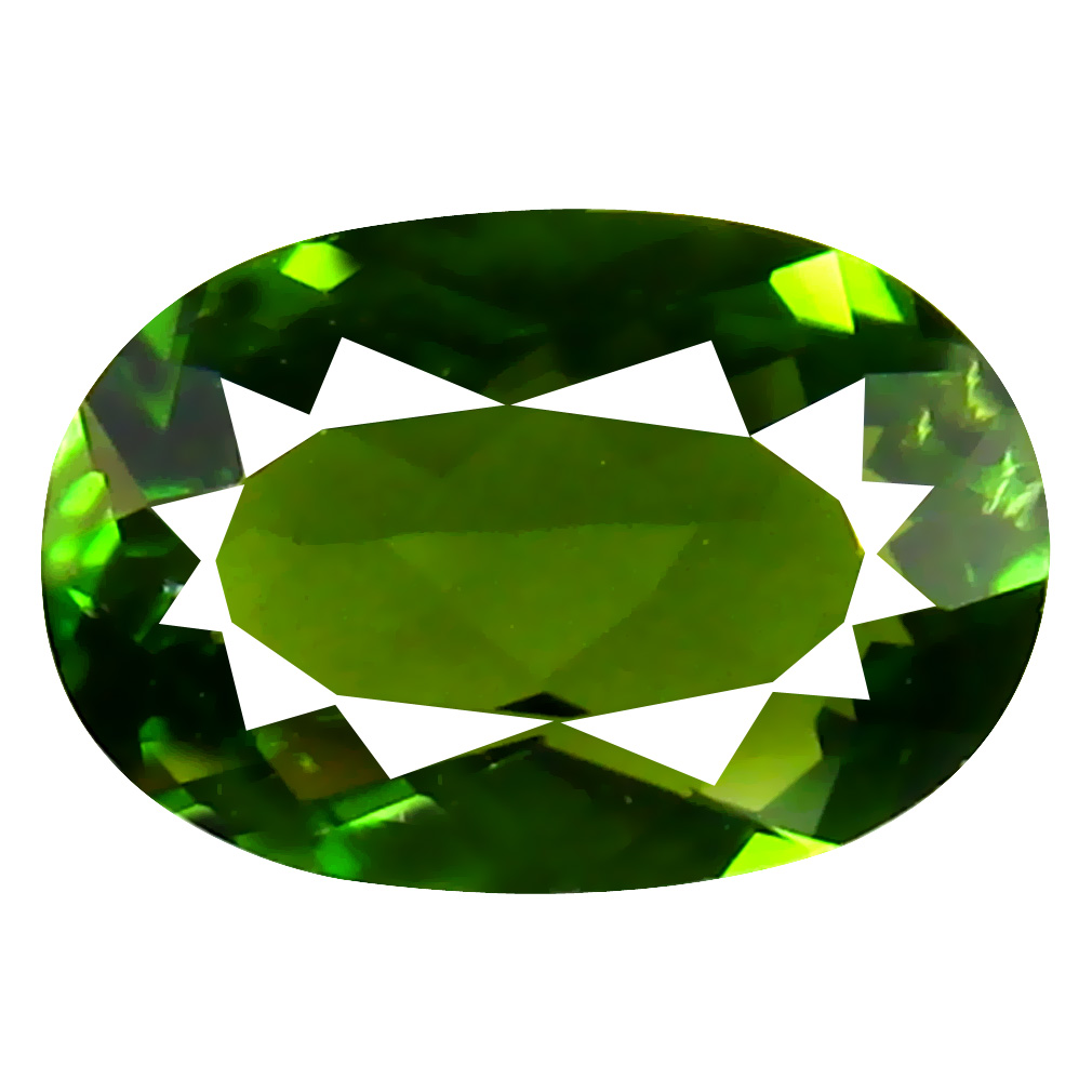 1.22 ct AAA Superb Oval Shape (6 x 9 mm) Natural Green Tourmaline Loose Stone