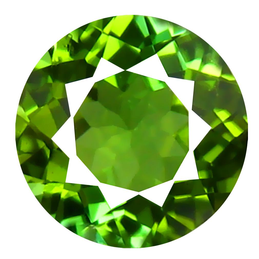 0.83 ct AAA Awe-inspiring Oval Shape (6 x 6 mm) Natural Green Tourmaline Loose Stone
