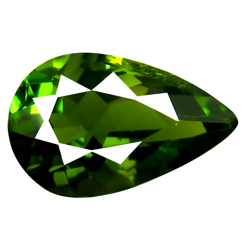 0.90 ct AAA Incomparable Pear Shape (8 x 5 mm) Natural Green Tourmaline Loose Stone