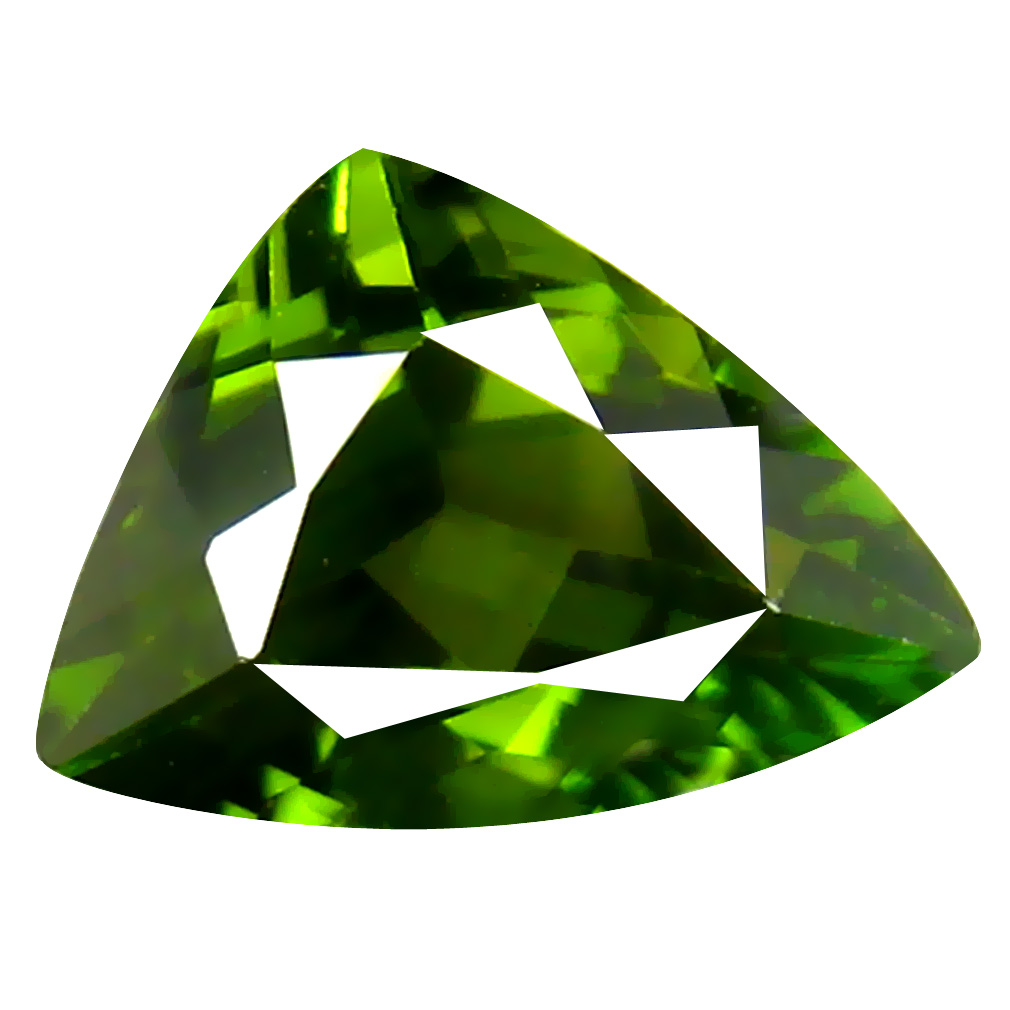 1.53 ct AAA Spectacular Trillion Shape (9 x 7 mm) Natural Green Tourmaline Loose Stone