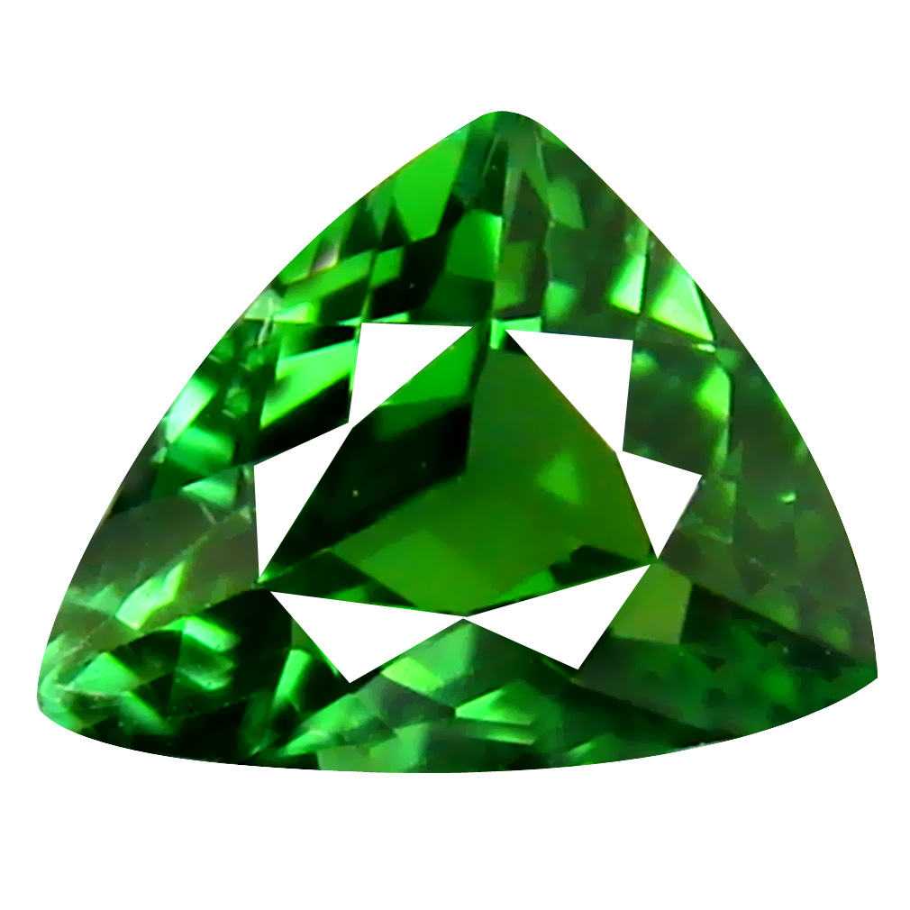 0.92 ct AAA Eye-opening Trillion Shape (7 x 6 mm) Natural Green Tourmaline Loose Stone