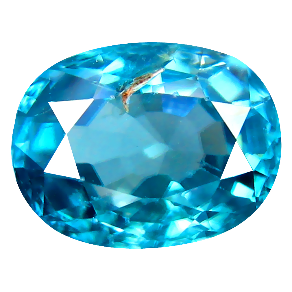 3.47 ct Sparkling Oval Cut (10 x 7 mm) Cambodian Blue Zircon Natural Loose Gemstone