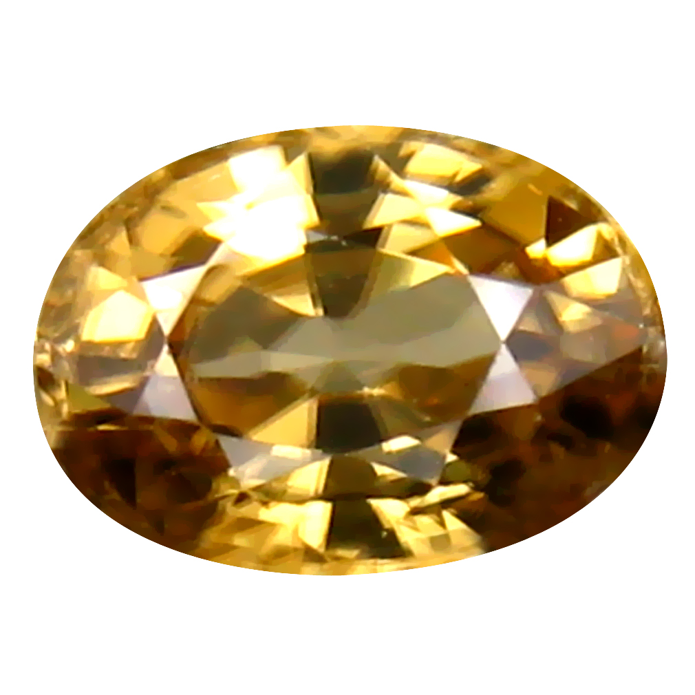 1.48 ct Terrific Oval Cut (7 x 5 mm) Un-Heated Yellow Zircon Natural Gemstone