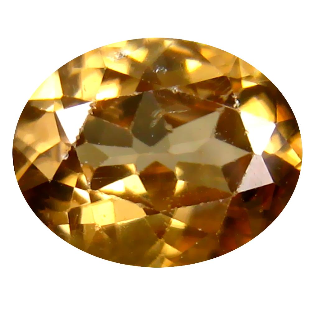 2.70 ct Pretty Oval Cut (9 x 7 mm) Un-Heated Brownish Yellow Zircon Natural Gemstone