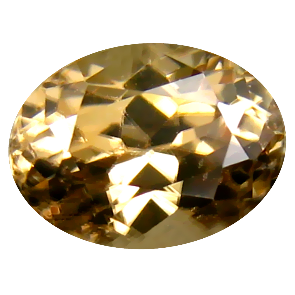 2.23 ct Beautiful Oval Cut (8 x 6 mm) Un-Heated Brownish Yellow Zircon Natural Gemstone