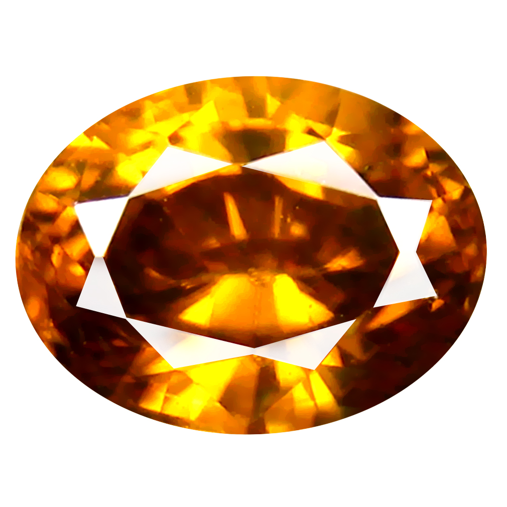 1.97 ct Awe-inspiring Oval Cut (7 x 6 mm) Un-Heated Brownish Yellow Zircon Natural Gemstone