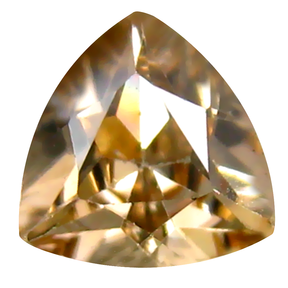 1.05 ct Fabulous Triangle Cut (6 x 6 mm) Un-Heated Brown Zircon Natural Gemstone