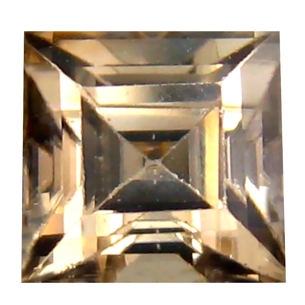 1.97 ct Best Princess Cut (6 x 6 mm) Un-Heated Brown Zircon Natural Gemstone
