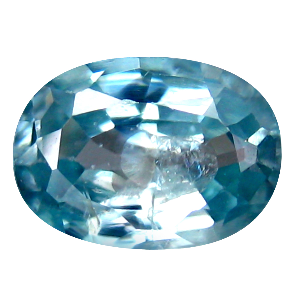 1.22 ct Mind-Boggling Oval Cut (7 x 5 mm) Cambodia Blue Blue Zircon Natural Gemstone