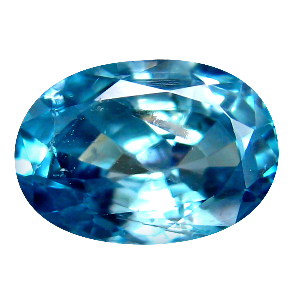 2.23 ct Magnificent Oval Cut (9 x 6 mm) Cambodia Blue Blue Zircon Natural Gemstone