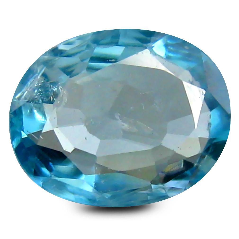 2.05 ct Eye-catching Oval Cut (9 x 7 mm) Cambodia Blue Blue Zircon Natural Gemstone