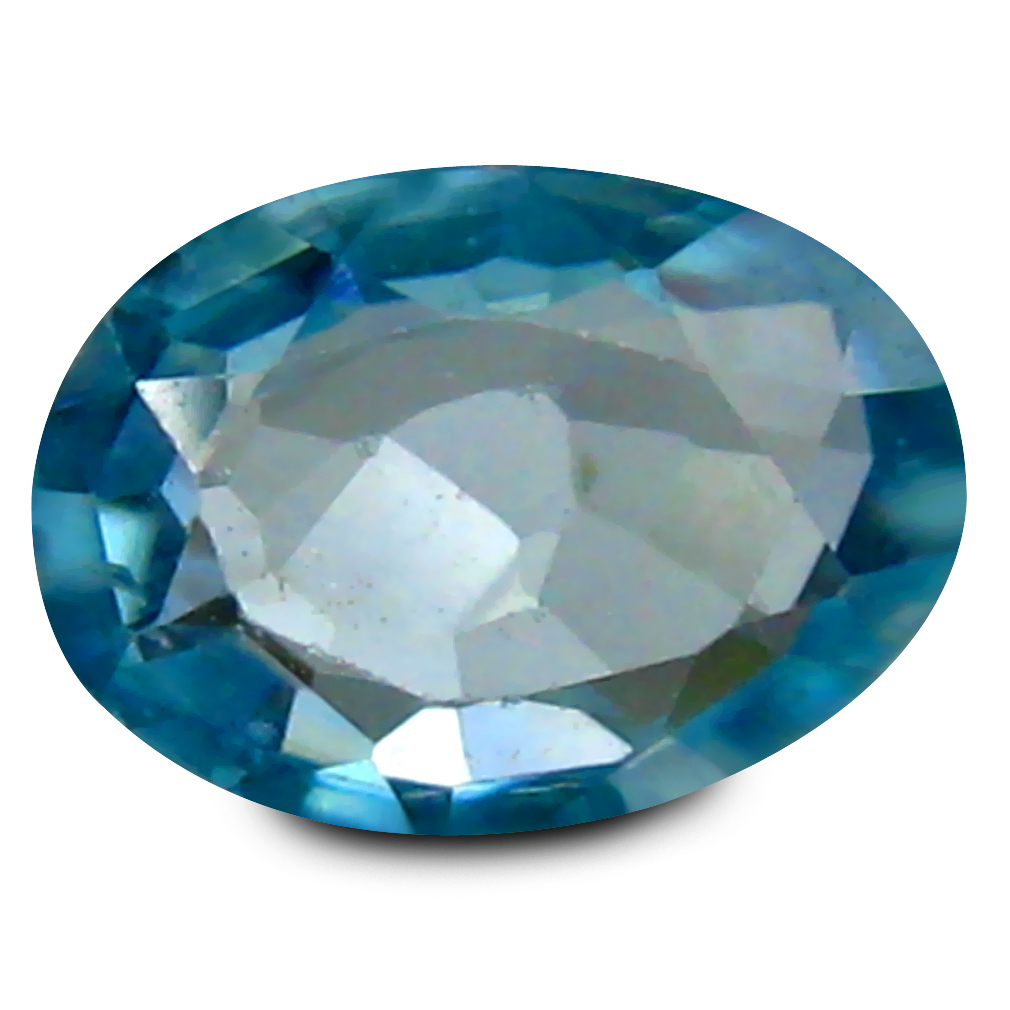 1.01 ct Beautiful Oval Cut (7 x 5 mm) Cambodia Blue Blue Zircon Natural Gemstone